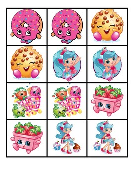 photograph about Shopkins Printable List identified as Shopkins Matching Activity