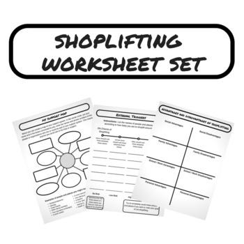 Shoplifting Worksheet Set
