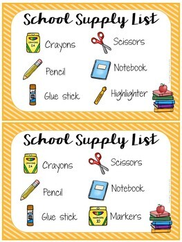 Shoppin' For School - A Fun Card Game for Back to School