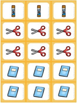 Shoppin' For School Supplies- A Fun Card Game for Back to School
