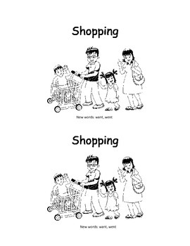 Shopping: A Want/Went Sight Word Book