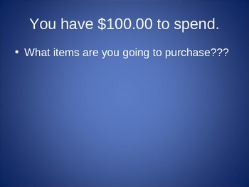 Shopping Actiivty PPT