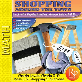 Consumer Math Word Problems: Shopping Around Town