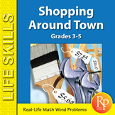Consumer Math Word Problems: Shopping Around Town