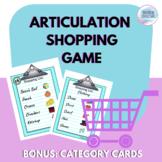 Shopping Articulation Game {Bonus Category Lists}
