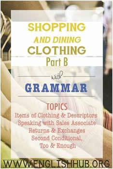 Shopping (Unit B Packet): Clothes Shopping