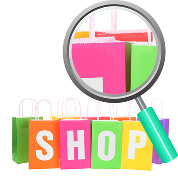 Shopping Bags Photos Clip Art Set for Commercial Use