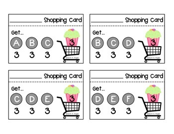 Shopping Cards  {For Emerging Readers, K-2}