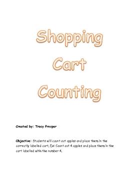 Shopping Cart File Folder Game