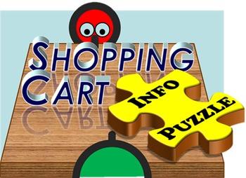 Shopping Cart INFO PUZZLE (English Communication Game)