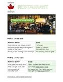 Restaurant ESL Worksheet