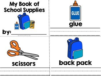 Shopping For Back to School Supplies- Adapted Book {Autism, Early Childhood}