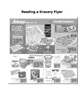 Shopping For Groceries Lesson Plan + Flyer & Dialog