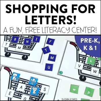 Shopping For Letters! Letter Name and Sound Center