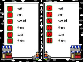 Shopping For Sight Words:  LOW PREP Community Themed Sight Word Activity