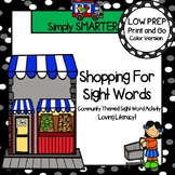 LOW PREP Community Themed Roll, Read, and Write Sight Word Activity