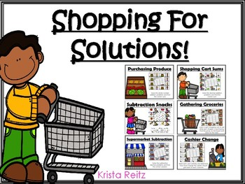 Shopping For Solutions {adding and subtracting whole numbers and decimals}