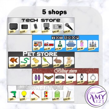 Shopping Game-Notes and Coins