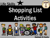 Shopping List Activity Cards