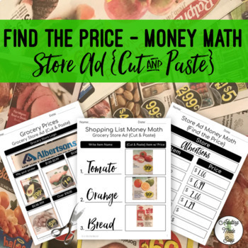 Money Math Find The Price {Cut & Paste} - Life Skills Weekly Circular Store Ad