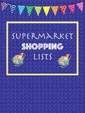 Shopping List - Visual for Dramatic Play or Field Trip