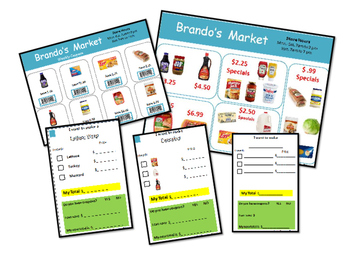 Shopping List with Coupons and sales ad Brando's Market