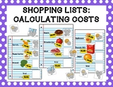 Shopping Lists: Calculating Costs