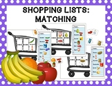 Shopping Lists: Matching