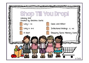 Shopping - Long i and Other Literacy Activities