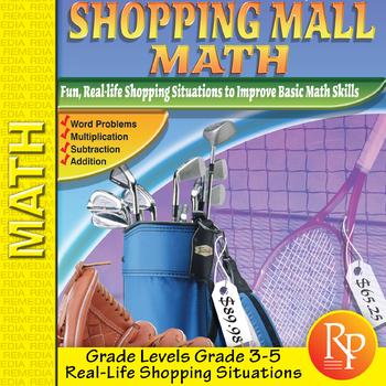 Consumer Math Word Problems: Shopping Mall Math