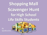 Shopping Mall Scavenger Hunts for Secondary Life Skills Students