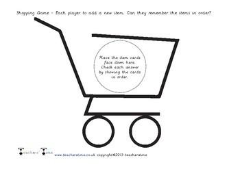 Shopping Memory Game
