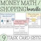 Money Math / Shopping Task Card BUNDLE