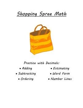 Shopping Spree Math: A Decimal Activity