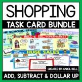 Money Word Problems Shopping Task Card Bundle