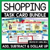 Money Word Problems Shopping Task Card Bundle