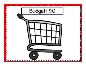 Shopping Trip Math Center Game