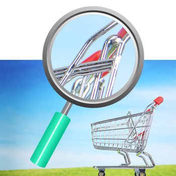 Shopping Trolley / Grocery Cart Photos Clip Art Set for Commercial Use