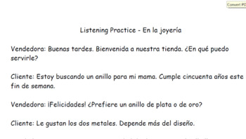 Shopping Unit in Spanish!