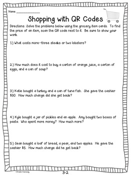 Shopping With QR Codes: A Differentiated Money Activity