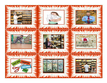 Shopping at Supermarket Cards