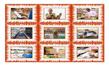 Grocery Shopping Legal Size Photo Card Game
