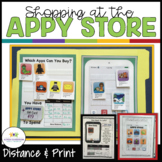 Shopping at the Appy Store: Money Worksheets-Task Cards (S