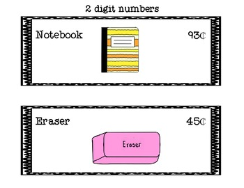 Shopping at the School Store: Finding Sums and Estimating 2 and 3 Digit Numbers