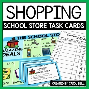 Shopping Task Cards The School Store