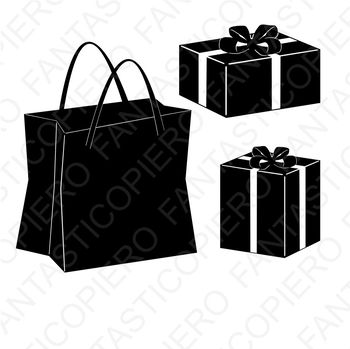 Shopping bag SVG and Present SVG files for Silhouette Cameo and Cricut.