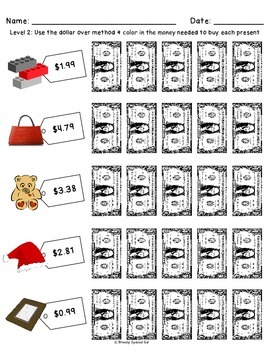 FREEBIE Shopping for Christmas Presents - Worksheets for Special Education