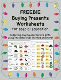 FREEBIE Shopping for Christmas Presents - Worksheets for S