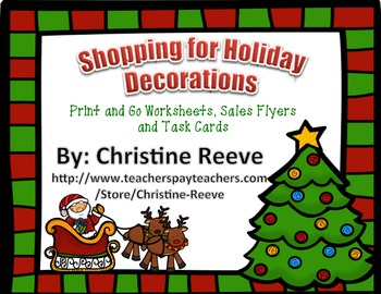 Shopping for Holiday Decorations: Money Skills (autism; special education)