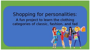 Shopping for Personalities